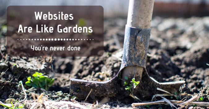 Image of garden and shovel